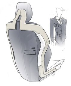 Volvo Concept You Seat Design Sketch.
