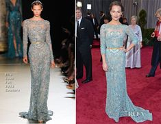 Alicia Vikander in Elie Saab. One of my fave dresses of the evening.