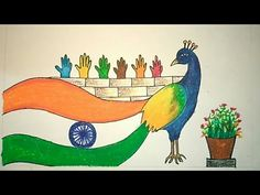 Independence Day Drawing || Happy Independence Day || #Learningartcreativity - YouTube Independence Day Drawing, Independence Day Images, Happy Independence Day, Oil Pastel Drawings, Easy Drawings, Songs With A Message, Flag Drawing, World Days, Pencil Painting