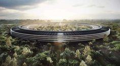 The Apple Campus designed by Foster + Partners.