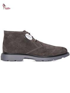Basket Hogan Rebel homme en cuir retournée gris - Code modèle:  HXM2800T491C8E9999 - Taille: 40.5 EU / 6.5 UK - Chaussures hogan  (*Partner-Link) | Pinterest