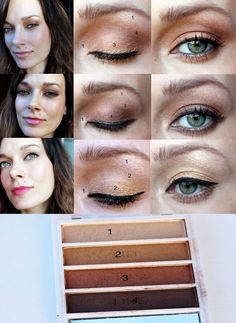 E.L.F Golden Goddess $2.00 Eyeshadow Palette and 3 Looks!// I have this palette and two other color schemes in blue and purple. Love E.L.F. products!