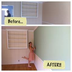 Apartment living room paint - before & after