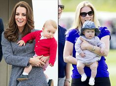 Kate Middleton and Prince William's baby boy, 9-month-old Prince George, threw food at his 4-month-old cousin, Mia Grace Tindall, when they first met.