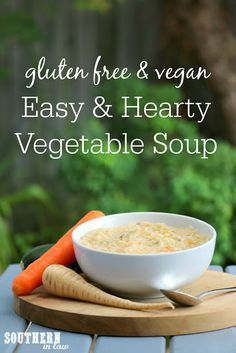 This Easy Homemade Gluten Free Vegetable Soup Recipe is a family favourite and the perfect hearty winter soup. Creamy thanks to the millet (or other grains – try brown rice, quinoa or barley) whilst low in fat, this lunch or dinner is gluten free, vegan, nut free, vegetarian, low calorie and a healthy clean eating recipe.