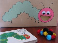 Feed the Caterpillar. We could adapt this and throw the play food into its mouth