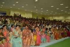 Bathukamma was celebrated on 20th sept 2017. The celebrations were organized by Women Cell. Bathukamma preparations started from morning on 20th september. By evening the stage was set for celebrations. Vice Chancellor Dr. A. Ashok garu was the chief guest for the celebrations. Almost 10000 students, all staff with families took part in the event and made the evening joyous.