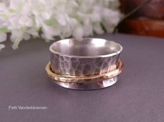 Solid Sterling Silver and Gold Filled Ring  by PattiVanderbloemen