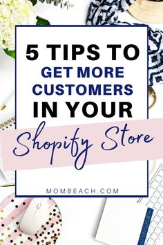 eCommerce Marketing: 5 tips to get more customers in your shopify store. Learn how to improve your ecommerce marking and customer base so you can get more customers to your store ASAP. #business #businesstips #makemoremoney #marketingtips #ecommerce #shopifytips Ways To Earn Money, Earn Money Online, Make More Money, Successful Business Tips, Business Ideas, Small Business Entrepreneurship, Web Design, Drop Shipping Business, Marketing Professional