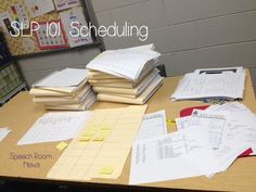 SLP 101: Scheduling: Tips and tricks for scheduling for school based SLPs. TheSpeechRoomNews.com