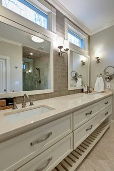 super long  marriage saver Double vanity with storage