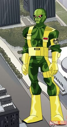 Final color art for HYDRA soldier from The Avengers: Earth's Mightiest Heroes! | Marvel.com