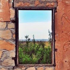 window to New Mexico near Sante Fe