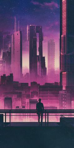 New Pixel Art Wallpaper Cyberpunk Ideas Cyberpunk City, Cyberpunk Kunst, Cyberpunk Aesthetic, Futuristic City, City Aesthetic, Cyberpunk 2077, Concept Art Landscape, Fantasy Landscape, Urban Landscape