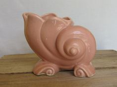 Hey, I found this really awesome Etsy listing at https://www.etsy.com/listing/293011739/pink-shell-ceramic-planter-4-34-inch
