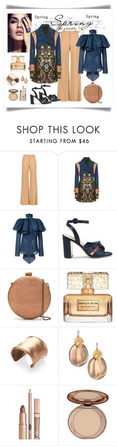 """""""Peter Pilotto Paneled Jacquard Jacket Look"""" by romaboots-1 ❤ liked on Polyvore featuring Alice + Olivia, Rosie Assoulin, Gianvito Rossi, Serpui, Givenchy, Etro, Alexis Bittar and Charlotte Tilbury"""