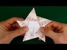 DIY: Fünfzackige Origami-Sterne für Weihnachten - YouTube