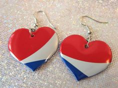 Pepsi can upcycled earrings