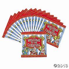 Carnival napkins