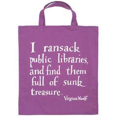 I ransack public libraries
