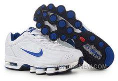 http://www.jordannew.com/mens-nike-air-max-shox-r4-shoes-white-blue-top-deals.html MEN'S NIKE AIR MAX SHOX R4 SHOES WHITE/BLUE TOP DEALS Only $85.16 , Free Shipping!