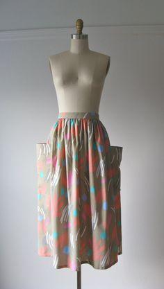 vintage skirt / full midi skirt, $36.00