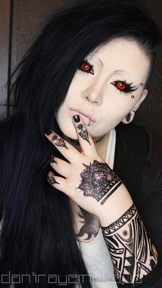 Uta Makeup Tutorial | DaniRayeMakeup | Tokyo Ghoul   https://www.youtube.com/watch?v=IuFLBKB6fOo