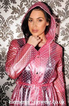 Raincoats For Women Long Sleeve Key: 4627516429 Clear Raincoat, Pink Raincoat, Plastic Raincoat, Latex Wear, Rain Suit, Hooded Cloak, Raincoats For Women, Rain Wear, Women Wear