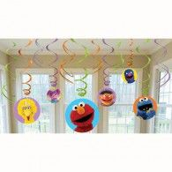 Sesame Street Elmo Dangling Swirl Decorations Birthday Party Supplies Favor Pack by Disney Elmo Birthday, 2nd Birthday Parties, Birthday Party Decorations, Box Decorations, Birthday Ideas, Birthday Celebrations, Party Favors, Elmo Sesame Street, Sesame Street Birthday