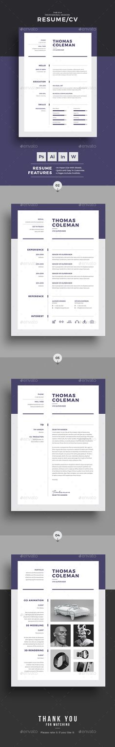 Buy Resume by upra on GraphicRiver. Resume Word Template / CV Template with super clean and modern look. Clean Resume Template page designs are easy to u. College Resume Template, Modern Resume Template, Cv Template, Resume Templates, Infographic Templates, Card Templates, Resume Words Skills, Cv Words, Teaching Resume