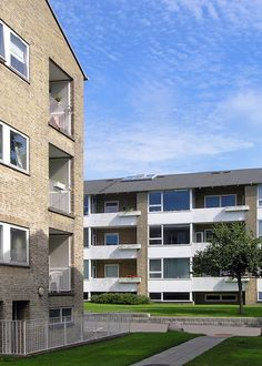 arne jacobsen, ibstrupparken housing II, gentofte, denmark 1946