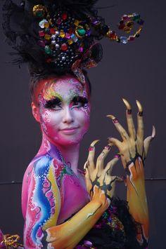 Daegu Body Painting Festival 2012 - Color Me Rainbow - body Art Body Painting Festival, Festival Paint, Beauty Art, Daegu, Art Music, Face And Body, Body Art, Halloween Face Makeup, Artist
