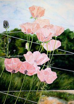 "Saatchi Art Artist Emily McPhee; Painting, ""Poppies"" #art"