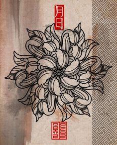 Baby Tattoos, Time Tattoos, Flower Tattoos, Body Art Tattoos, Tattoos For Guys, Sleeve Tattoos, Tattoo Japonais, Hades Tattoo, Black And White Flower Tattoo
