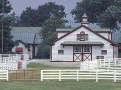 Photographic Print: Calumet Horse Farm, Lexington Poster by Adam Jones : Horse Stables, Horse Barns, Old Barns, Horses, Kentucky Horse Farms, Kentucky Derby, Calumet Farm, Ranch Farm, Ranch Life
