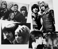 #George Harrison #Pattie Boyd #George and Pattie #Wedding #Wallpaper