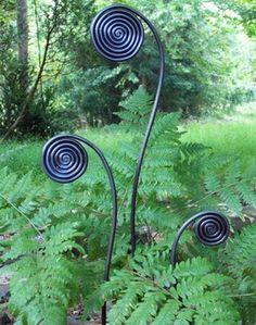 Fiddlehead Fern Garden Stakes