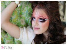 Crazy/doll makeup.