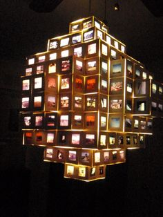 Hanging Photo Chandelier Light  Vintage Slides by StuffByJenB, $285.00