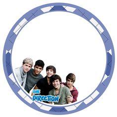 "Kit Digital Birthday Theme ""One Direction"" for Printing - Invitations Digital Simple"