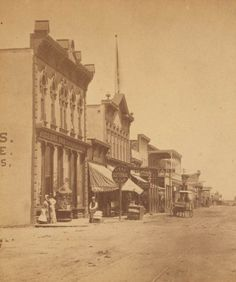 Downtown Albuquerque in 1880