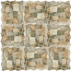 SomerTile 17.75 x 17.75-inch Atticus Gris Stone-look Ceramic Floor and Wall Tile…