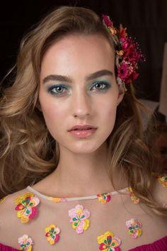The beauty look backstage on Maartje Verhoef at Diane von Furstenberg Spring 2016