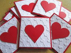 Valentines Day Mini Cards Valentines Day Cards by DreamsByTheRiver