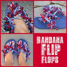 DIY Bandana Flip Flops . . .