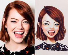 Celebrities Turned Into Cute Cartoon Characters By Russian Artist