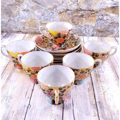 Japanese Hand Painted Eggshell Porcelain Tea Set ($120) ❤ liked on Polyvore featuring home, kitchen & dining, drinkware, porcelain teacup, japanese tea cups, cream cup, japanese porcelain tea cups and porcelain tea sets
