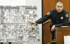 2003 file photograph: San Jose police officer Chad Marshall testifies before a grand jury about his fatal shooting of Bich Cau Tran.  The grand jury