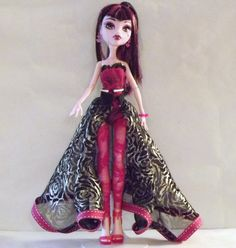 Monster High Doll clothes  long skirt and lace by NormasVisions, $13.00