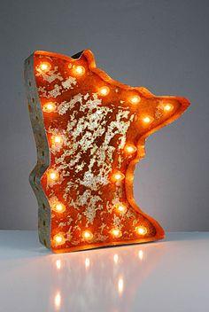 Vintage Marquee Lights - Minnesota. $229.00, via Etsy.